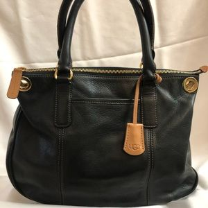 Ugg Black Leather Handbag